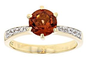 Orange Malaya Garnet 10k Yellow Gold Ring 1.54ctw