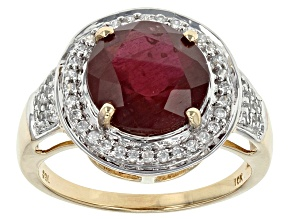 Mahaleo Ruby 10k Yellow Gold Ring 4.30ctw