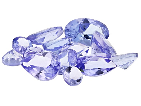 Tanzanite 1.50ctw Mixed Shape Faceted Stones in Sterling Silver