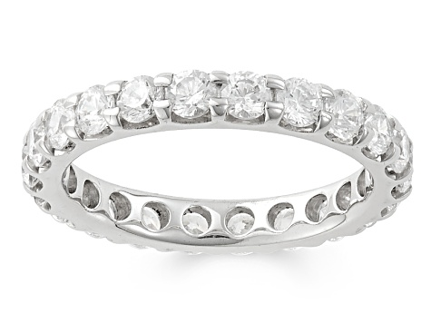 2.00ctw White Diamond 14kt White Gold Eternity Band Ring