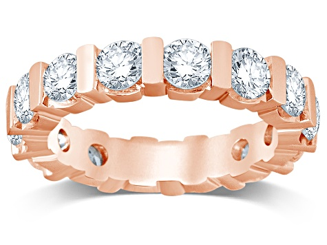 3.00ctw White Diamond 14kt Rose Gold Eternity Band Ring