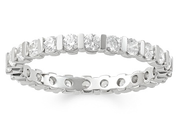 Picture of 1.00ctw White Diamond 14kt White Gold Eternity Band Ring