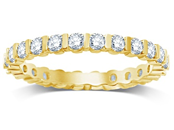 Picture of 1.00ctw White Diamond 14kt Yellow Gold Eternity Band Ring