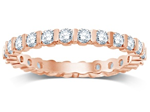 1.00ctw White Diamond 14kt Rose Gold Eternity Band Ring