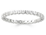 .50ctw White Diamond 14K White Gold Band Ring