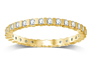 Picture of .50ctw White Diamond 14K Yellow Gold Eternity Band Ring