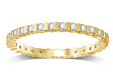 .50ctw White Diamond 14K Yellow Gold Eternity Band Ring