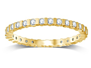 .50ctw White Diamond 14K Yellow Gold Band Ring