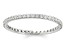 .50ctw White Diamond 14kt White Gold Band Ring