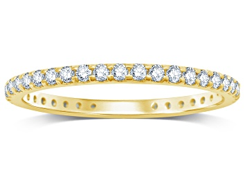 Picture of .50ctw White Diamond 14kt Yellow Gold Eternity Band Ring
