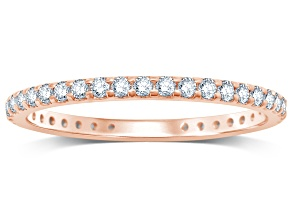.50ctw White Diamond 14kt Rose Gold Band Ring