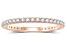 .50ctw White Diamond 14kt Rose Gold Band Ring