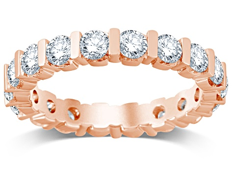 2.00ctw White Diamond 14kt Rose Gold Eternity Band Ring