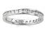 1.00ctw White Diamond 14kt White Gold Band Ring