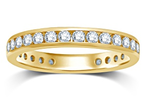 1.00ctw White Diamond 14kt Yellow Gold Eternity Band Ring