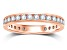 1.00ctw White Diamond 14kt Rose Gold Band Ring