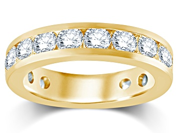 Picture of 3.00ctw White Diamond 14kt Yellow Gold Eternity Band Ring