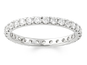 1.00ctw White Diamond 14kt White Gold Band Ring