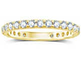1.00ctw White Diamond 14kt Yellow Gold Band Ring
