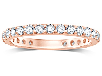 Picture of 1.00ctw White Diamond 14kt Rose Gold Eternity Band Ring
