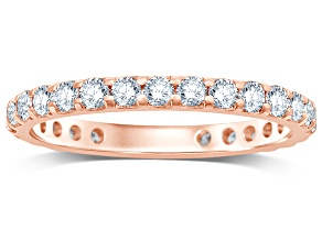 1.00ctw White Diamond 14kt Rose Gold Band Ring