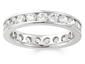 2.00ctw White Diamond 14kt White Gold Band Ring