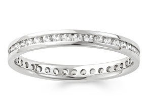.50ctw White Diamond 14kt White Gold Band Ring