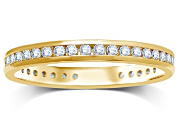 Picture of .50ctw White Diamond 14kt Yellow Gold Band Ring