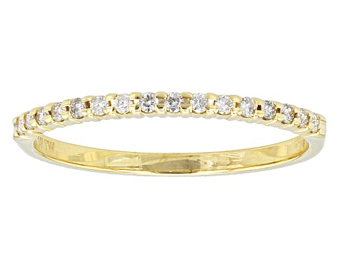 0.14ctw White Diamond 10kt Yellow Gold Band Ring
