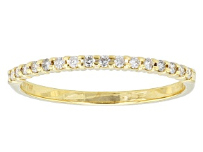 .14ctw White Diamond 10kt Yellow Gold Band Ring