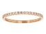 .14ctw White Diamond 10kt Rose Gold Band Ring