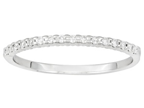 .14ctw White Diamond 10kt White Gold Band Ring