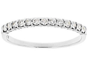 White Diamond 14k White Gold Band Ring 0.25ctw