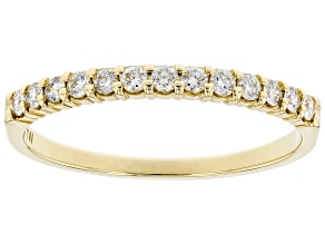 White Diamond 14k Yellow Gold Band Ring 0.25ctw