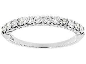 White Diamond 14k White Gold Band Ring 0.50ctw