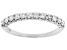 White Diamond 14k White Gold Band Ring 0.50ctw
