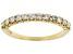 White Diamond 14k Yellow Gold Band Ring 0.50ctw