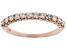 White Diamond 14k Rose Gold Band Ring 0.50ctw