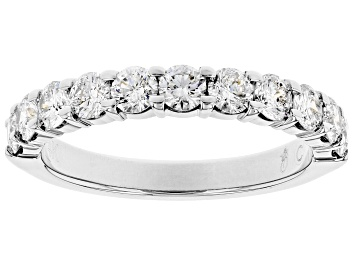 Picture of White Diamond 14k White Gold Band Ring 1.00ctw