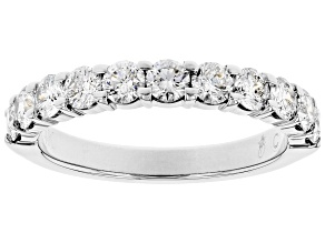 White Diamond 14k White Gold Band Ring 1.00ctw