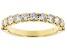 White Diamond 14k Yellow Gold Band Ring 1.00ctw