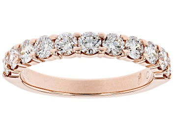Picture of White Diamond 14k Rose Gold Band Ring 1.00ctw