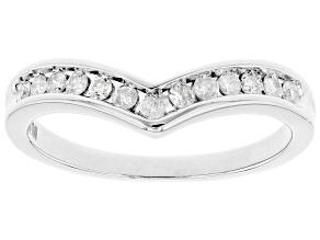 White Diamond 10k White Gold Band Ring 0.20ctw