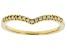 White Diamond 10k Yellow Gold Band Ring 0.10ctw