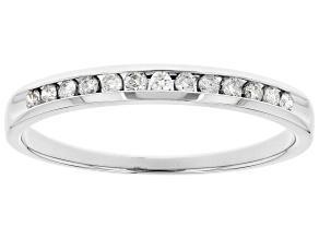 White Diamond 14k White Gold Band Ring 0.15ctw