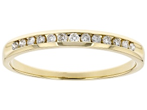 White Diamond 14k Yellow Gold Band Ring 0.15ctw