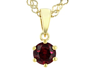 Scott's holiday collection Red Lab Created Ruby 18k Yellow Gold Over Silver Pendant With Chain .47ct