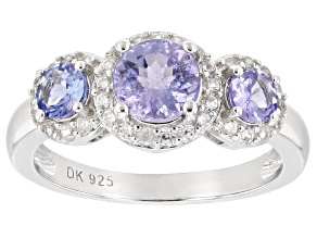 Blue Tanzanite Rhodium Over Silver Ring 1.73ctw