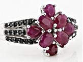 Red Ruby Rhodium Over Sterling Silver Ring 1.69ctw