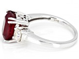 Red Mahaleo® Ruby Rhodium Over Sterling Silver Ring 4.94ctw